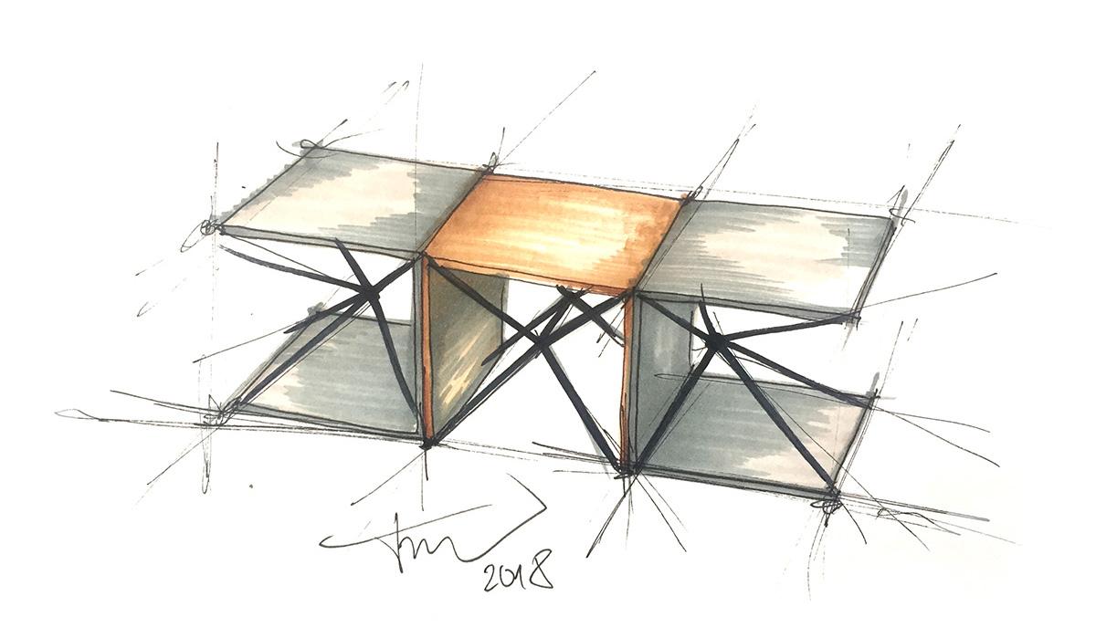 Konferenčný stolík Perspective