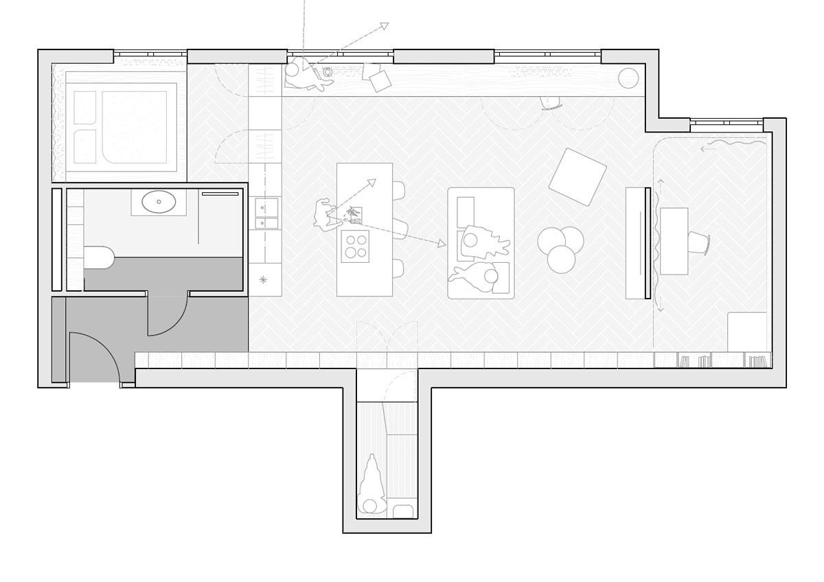 Grundriss - Entwurf