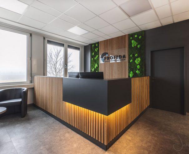 Büro Profida- Rezeption