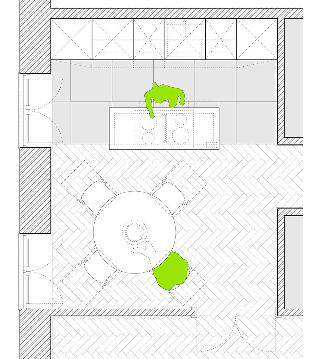 Küche - Grundriss